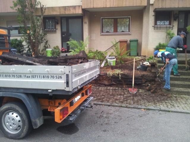 vorher: Naturstein-Gestaltung, Garten-Boss, Stuttgart