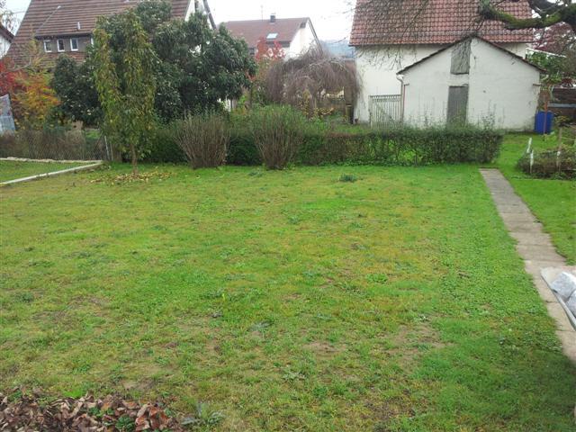 vorher: ohne Polygonalplatten, Garten Boss Stuttgart