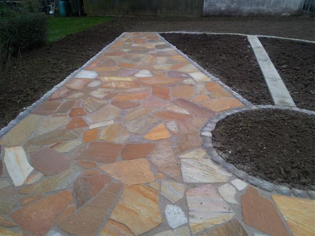 Polygonalplatten nachher, Garten-Boss, Stuttgart
